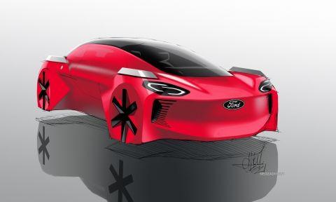 Ένα Ιπτάμενο αυτοκίνητο με το σήμα της Ford